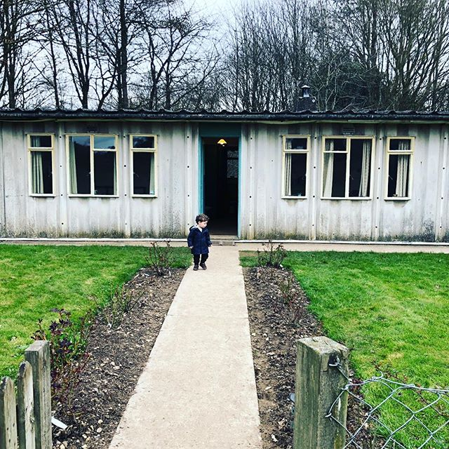 A prefab house at the chiltern open air museum. Originally from Rickmansworth. Comes with bomb shelter in the garden! Son not included.