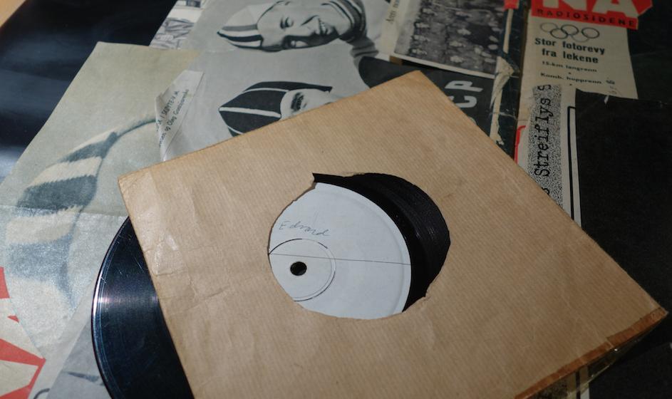 """KLENODIUM: Prøvetrykk av singelen med """"Hammaren"""" og """"50-milsvisa"""" fra plateselskapet MAI til Jack Berntsen, uten label, og i hjemmelagd cover. (Foto: Trolltamp.com)."""