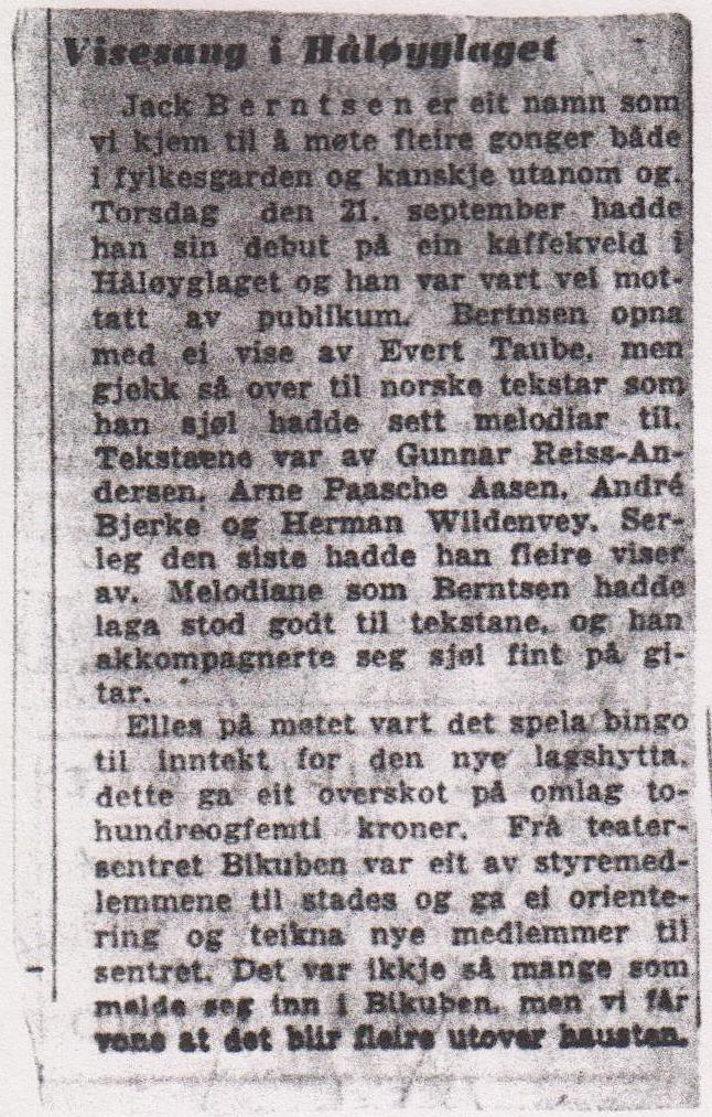 FAKSIMILE: Klipp fra Dagbladet september 1967, funnet i en plastsekk i Jack-samlingen. Det konkluderes med at dette er en mann vi kommer til å møte flere ganger (Arkiv:Trolltamp.no)