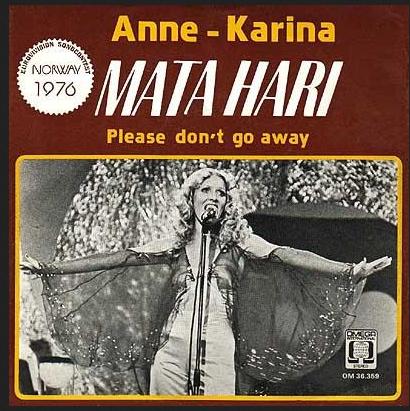 MATA HARI: Anne Kathrine Strøm vant en norske finalen i Melodi Grand Prix.