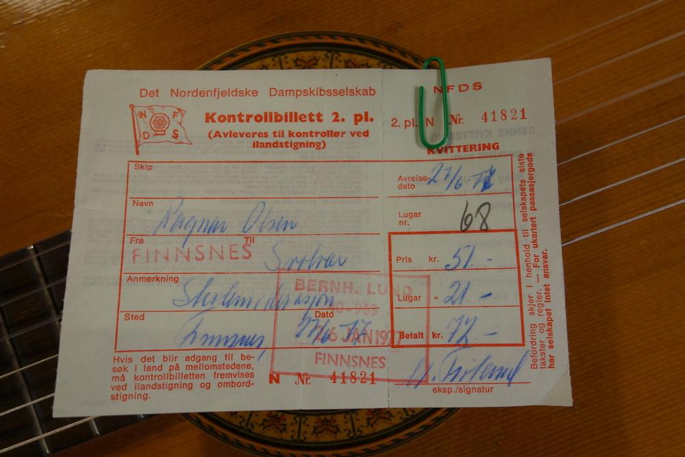 BILLETT ANNO 1977: Sangen om seilasen til Ragnar Olsen mellom Finnsnes og Svolvær er blitt en klasssiker i norsk visearv (Foto/arkiv Trolltamp.com)
