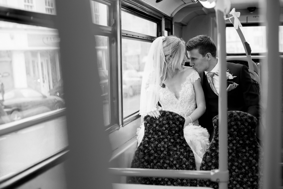 Kate and Ben - Littleton Park House - Shepperton Studios A Cycle and doping themed wedding, with a beautiful place pink dress, a big red bus, hundreds of candles, and the foggiest day ever! Read the whole story here