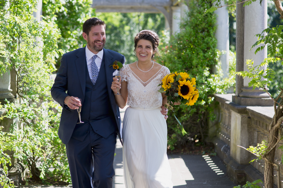 Tara and Jack - Hampstead Hill Garden and Pergola A beautiful summer wedding surrounded by a secret garden and walkways, with joy and laughter throughout and a pub reception - read the whole story here