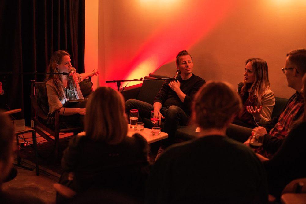 Lotta Elstad, Trygve Svensson og Ingrid Hødnebø. Foto: Oda Berby