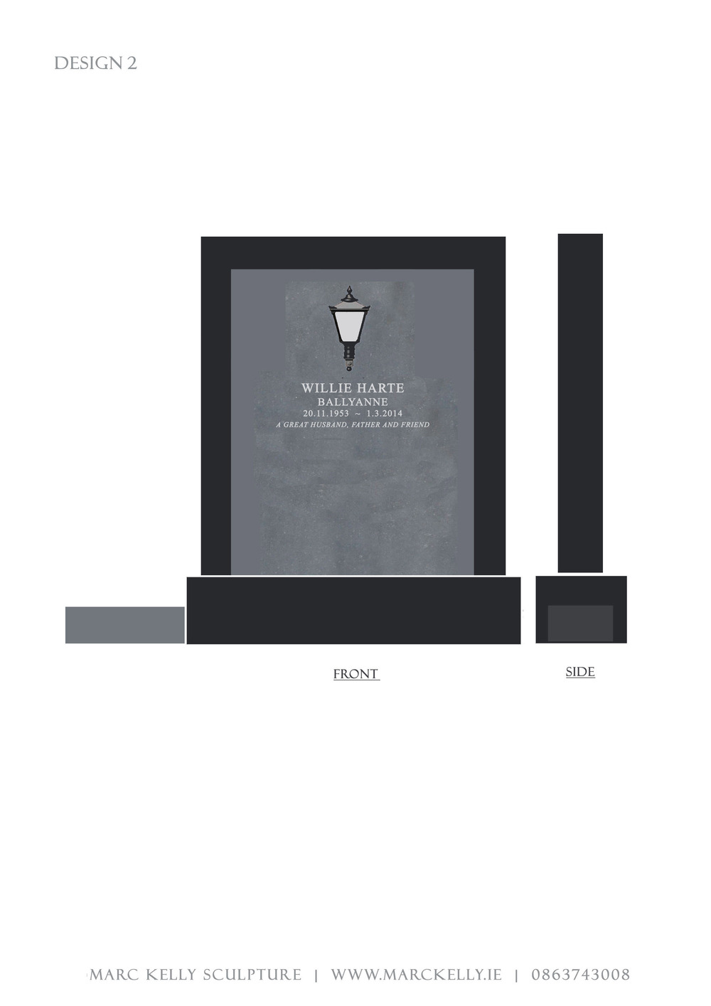 Headstone Design Layout