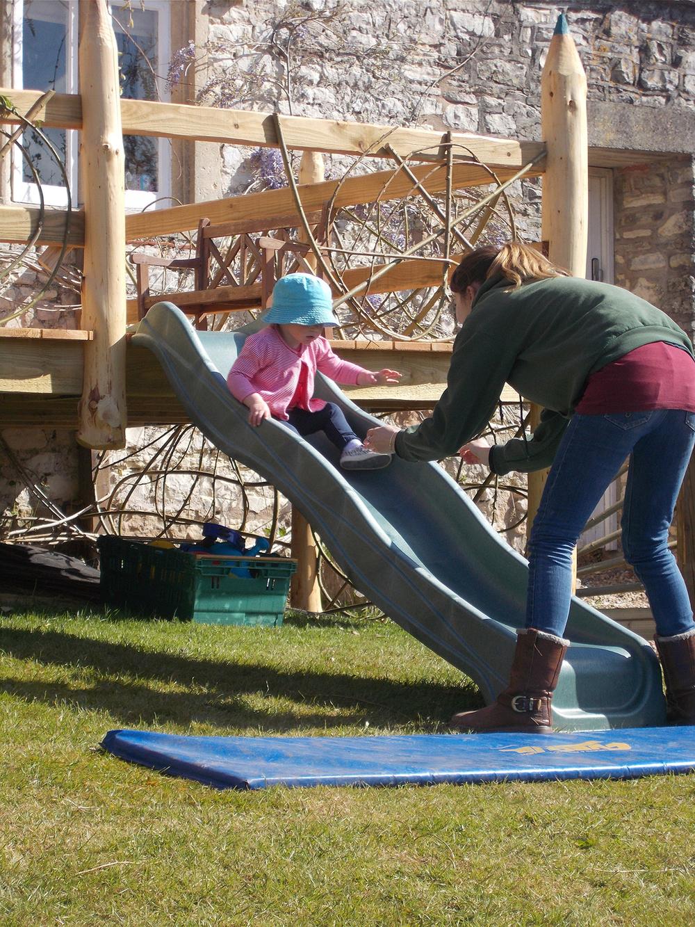 enjoying the slide