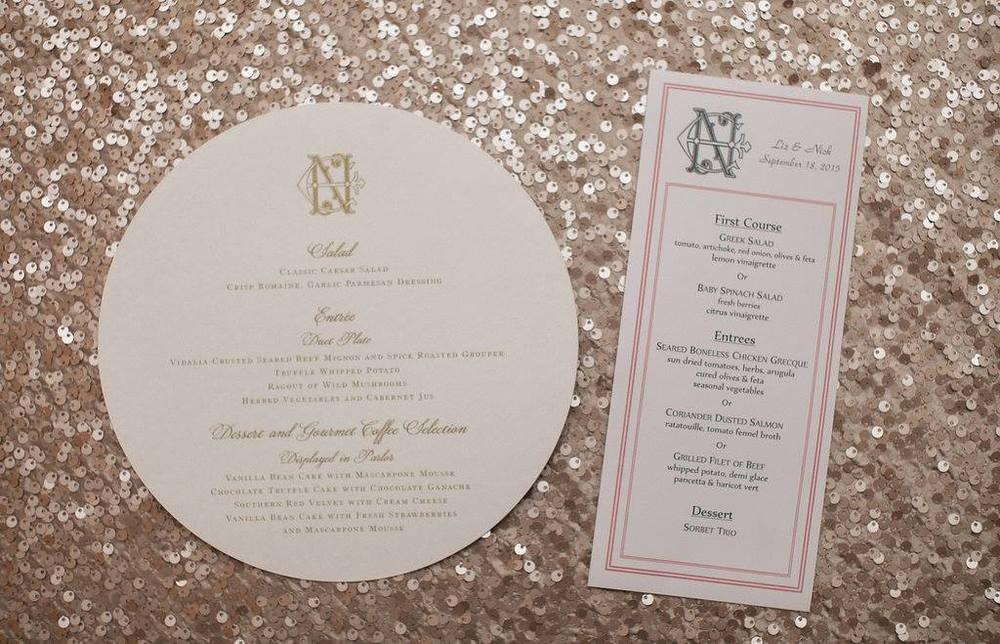Wedding-Menu-Monogram-Logo