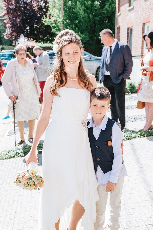 bruid en zoon