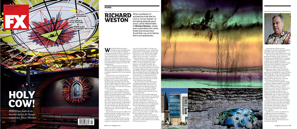 A 2-page feature in the British design magazine FX's June 2013 issue
