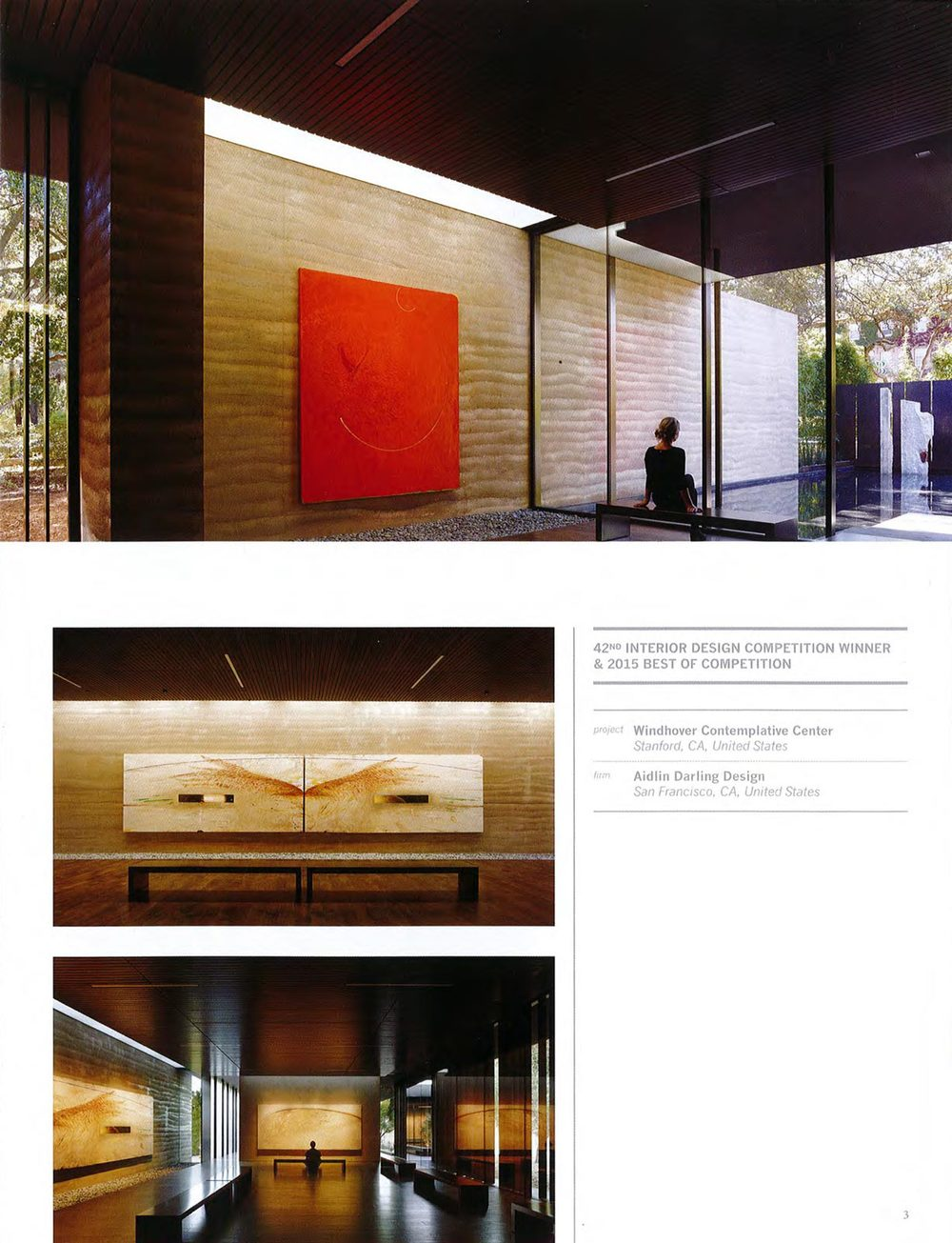 Windhover contemplative center wins best of competition in for Interior design association