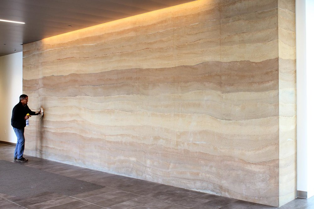Building A Rammed Earth Lobby Wall For American Agcredit