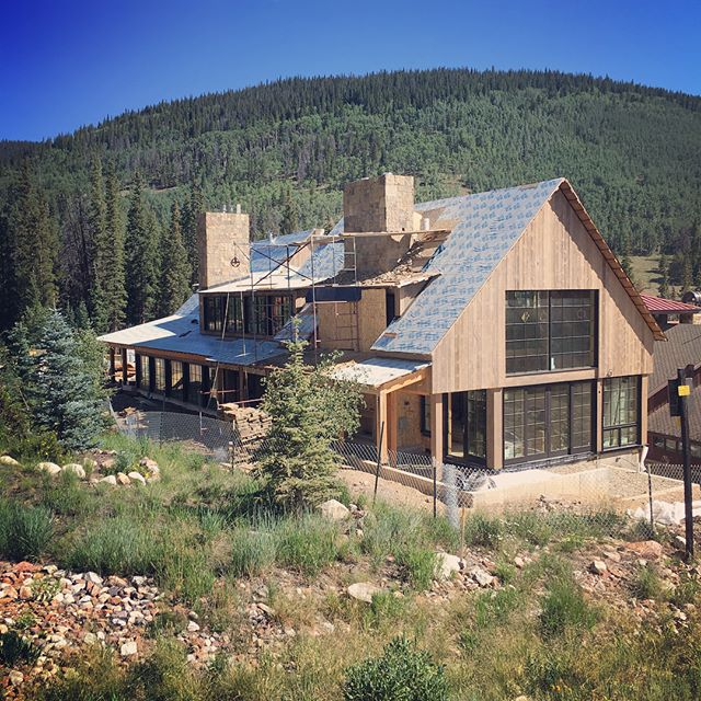 Stone,sun and timber. #plaad #plaadoffice #coppermountain #summitcounty #timberframe