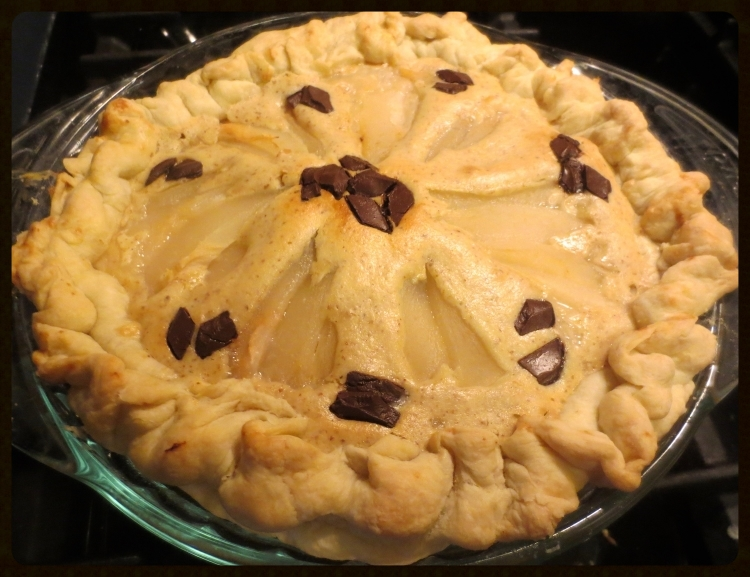Chocolate Pear Almond Pie