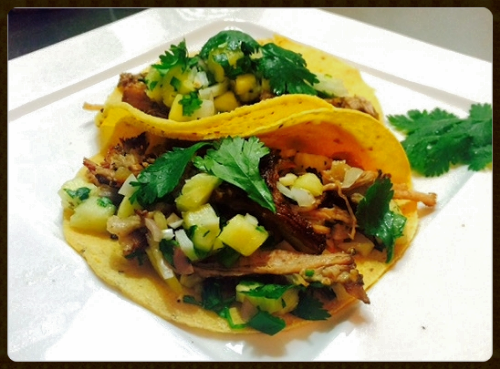 Slow Cooker Pork Carnitas with Pineapple Salsa