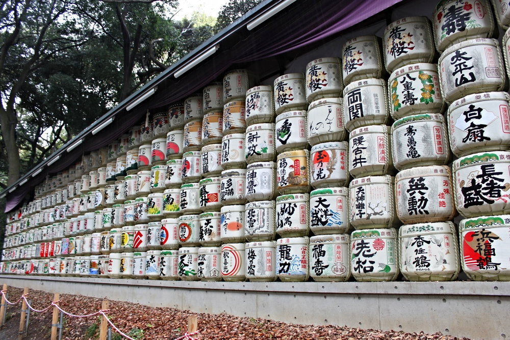 Barrels at Meiji shrine