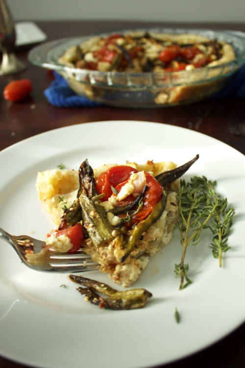 Okra and Tomato Tart