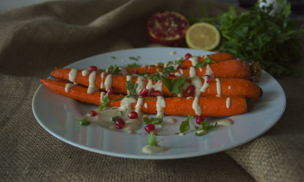Roasted Carrots with Tahini Dressing