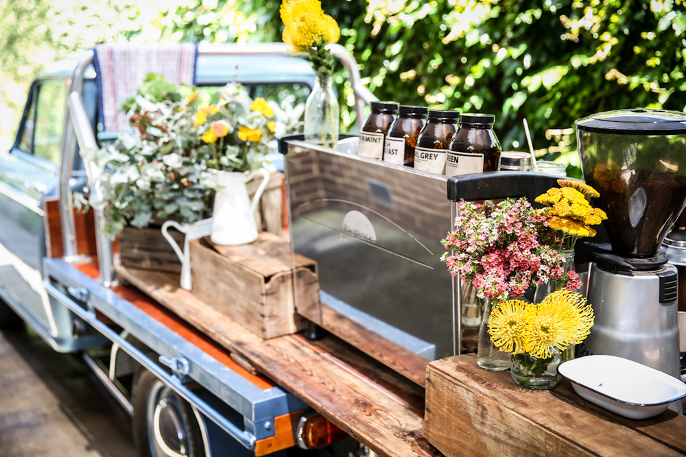 Go creative and give your guests a little something extra with a hot beverage station - coffee or tea, as you please! (Photo from The Farm Cafe at the Collingwood Children's Farm)