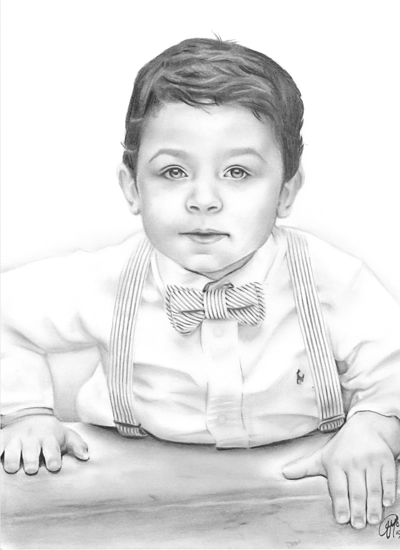 one subject portrait, custom drawn child's portrait, pencil sketch art.jpg