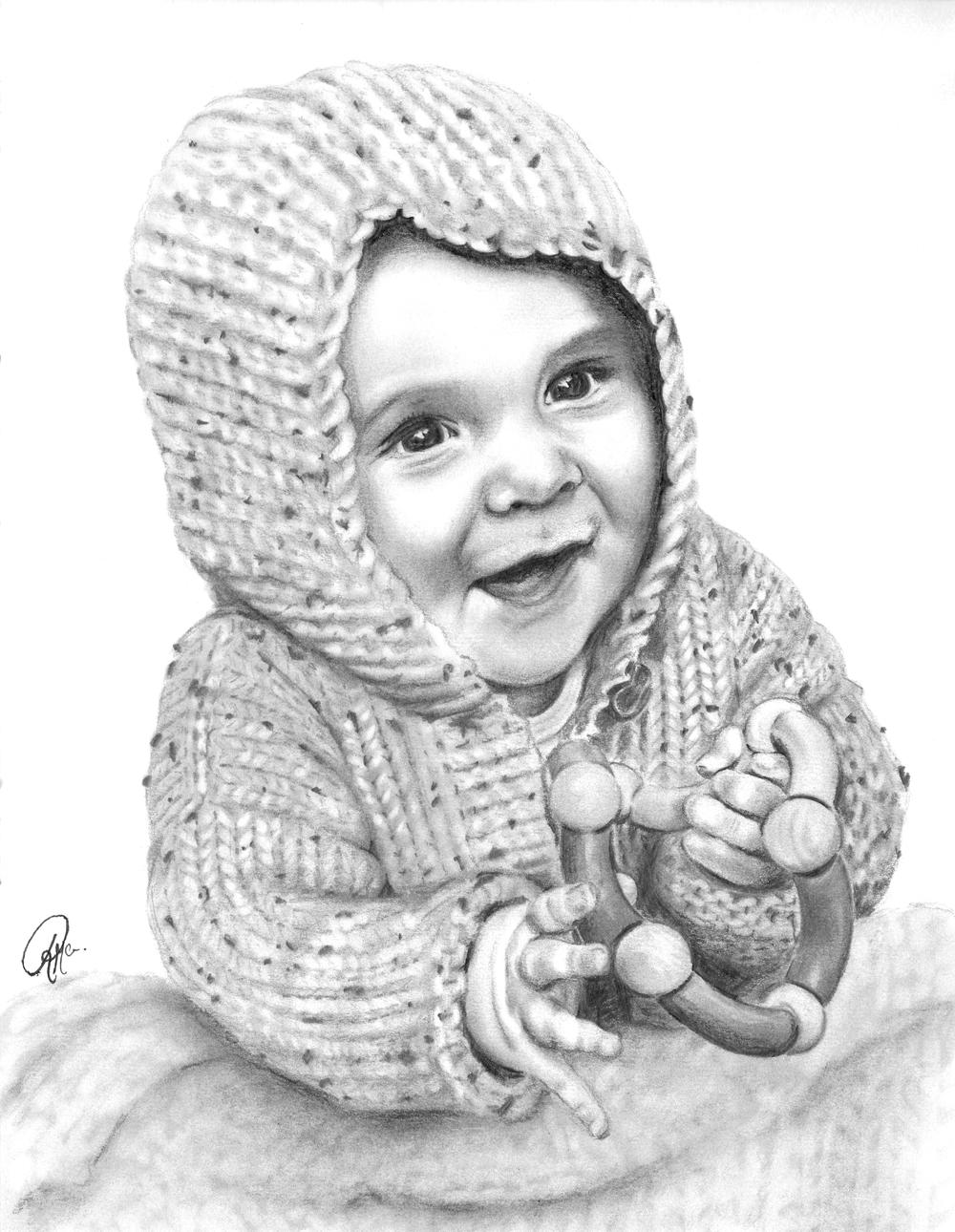 one subject portrait, custom drawn pencil sketch, custom baby portrait.jpg