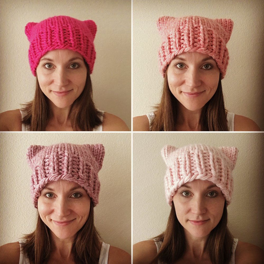 Free pussyhat pattern, bulky yarn