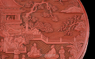 Lacquer box  ; China, Ming dynasty, Yongle reign, 1403–24; carved red lacquer (  tihong  ) on wood core
