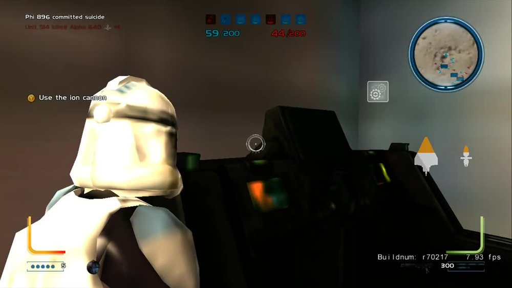 Leaked screen shot from Free Radical's canceled Star Wars: Battlefront III.