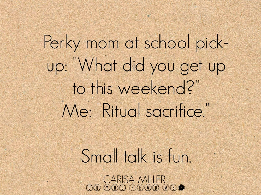 Fun with Small Talk, by Carisa Miller