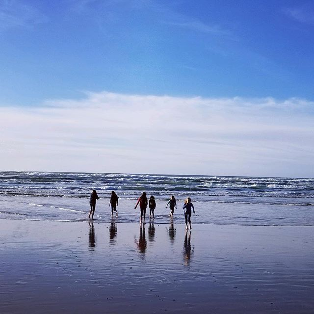 Happy New Year, everyone. My husband just sent me this photo of our children and friends frolicking in the ocean on the Oregon coast. It's not cold if you're from here.