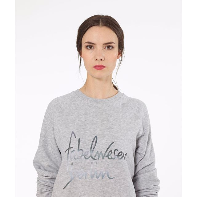 our fw.12 stunning stone sweater brings all of our best features together: timeless cut, premium cotton, understated colored print, and a super feeling while you wear it. check it out and grap one as long as you can! 🎉👯👯🎉 #fabelwesenberlin #sweater #design #femalemodel #womenfashion #womenstyle #urban #streetstyle #streetwear #berlin #handwritten #clothes #handmade #instadaily #instagood