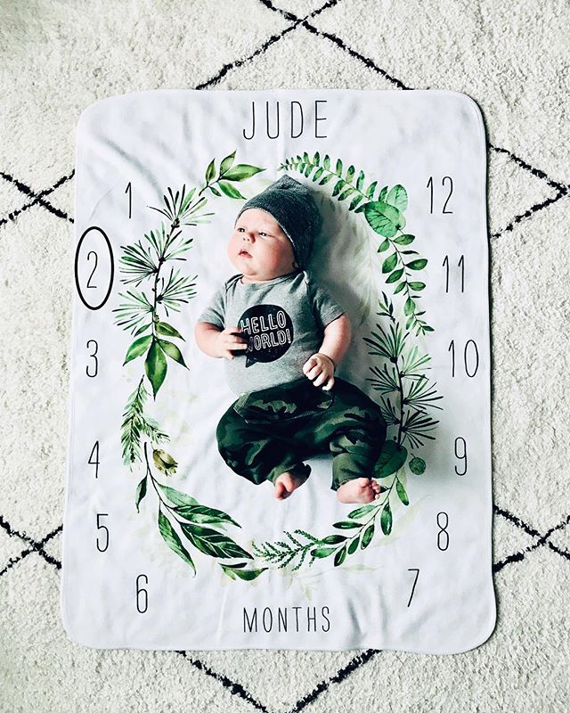 Two Months. This chunk and a half is already wearing some of his 3-6 months clothes. He's rolled onto his back once, is getting really good at tummy time and he started smiling this week, making us turn into an even bigger puddle of mush. You are our favorite, Jude Dude. 🥰🤗❤️