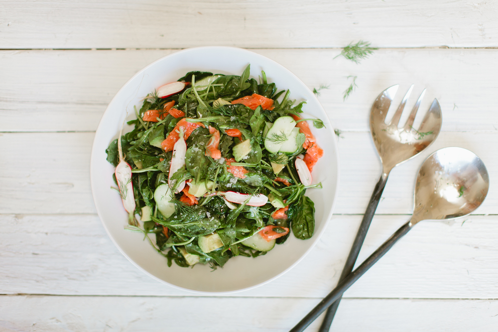 healthy smoked salmon salad