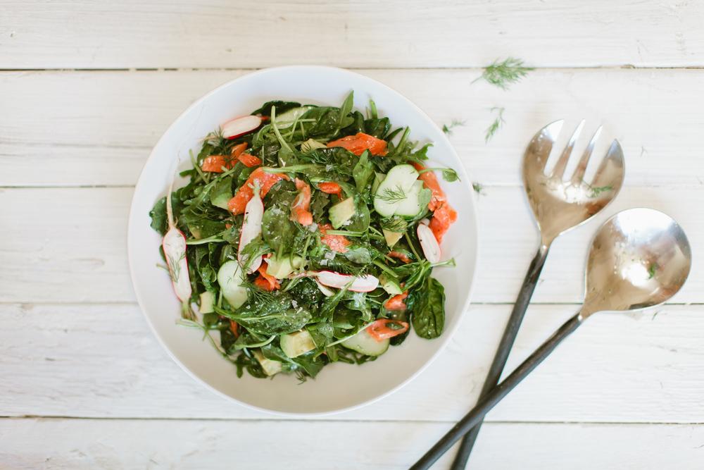 healthy smoked salmon salad
