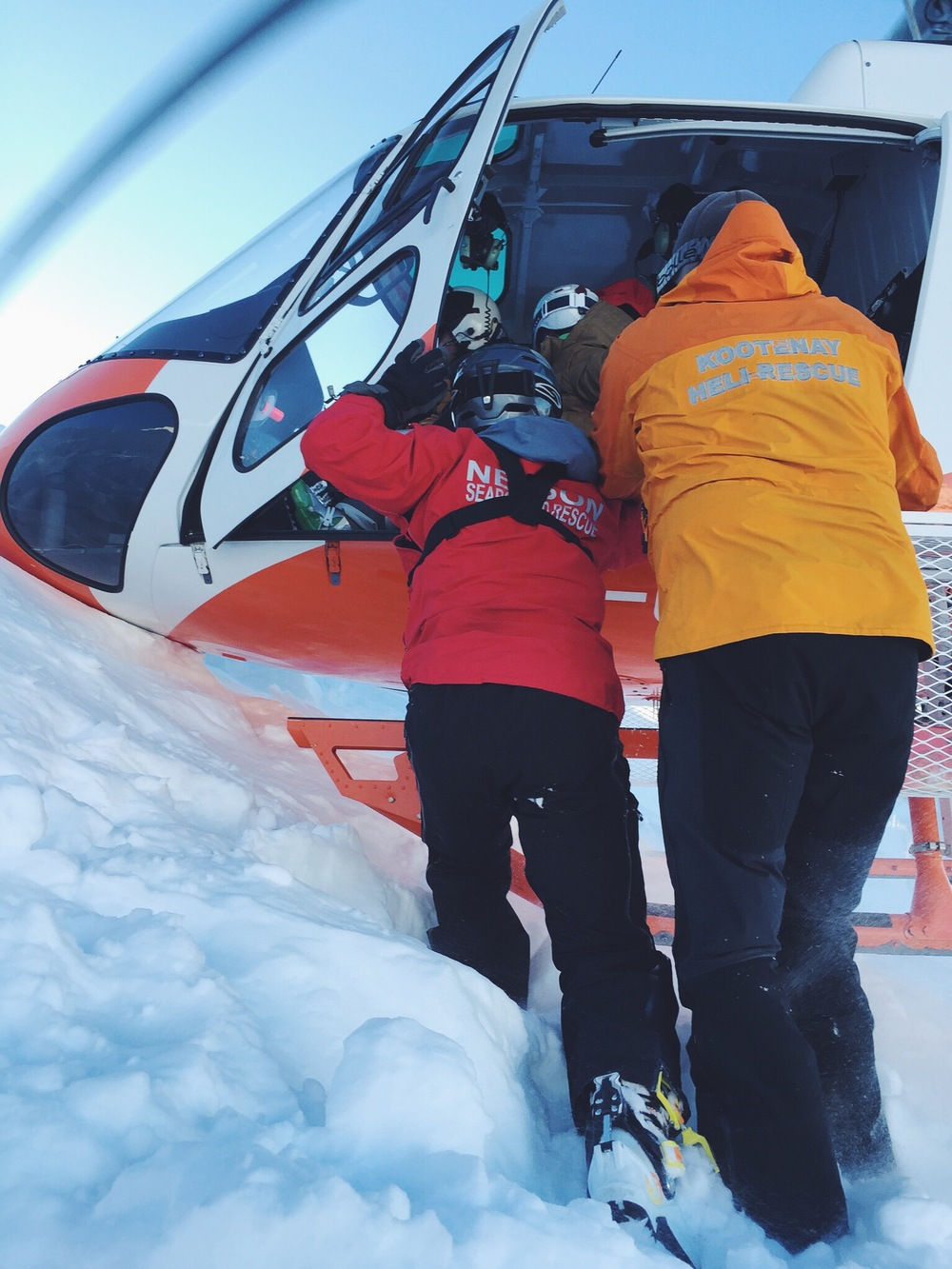 Running With Forks Canada Heli Rescue ACL Injury