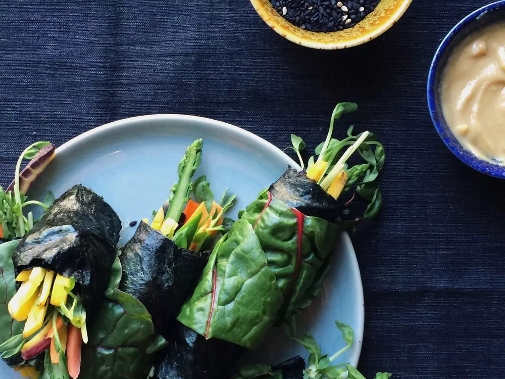 summer vegetable nori rolls
