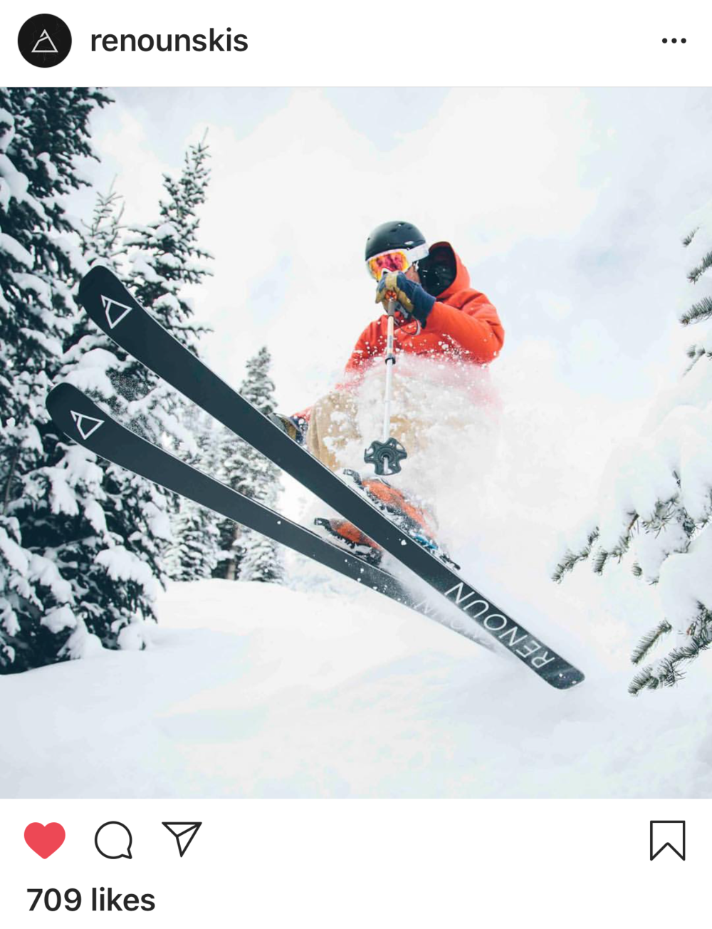 Renoun Skis: Added 25,000 Followers