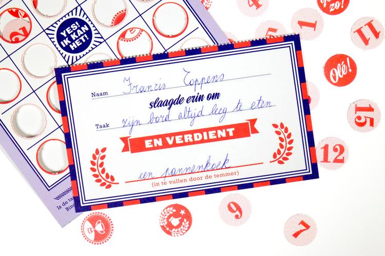 kinder beloning bingo kaarten stratier