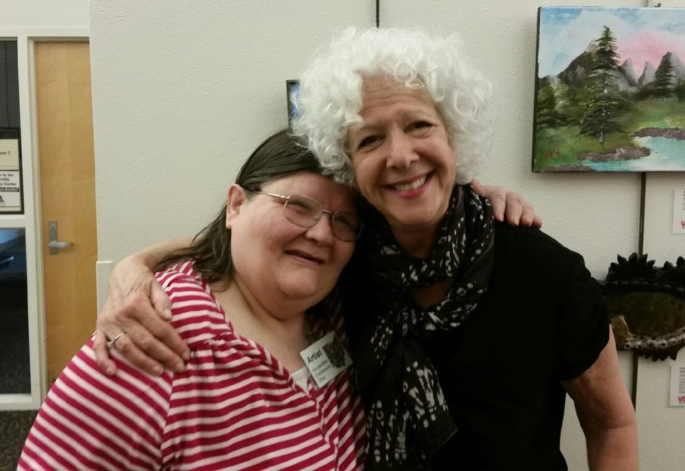A great memory made as Debbie was able to meet a woman who purchased her painting at the show.