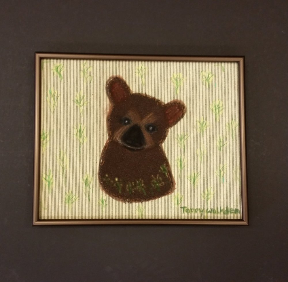 Bear applique - SOLD