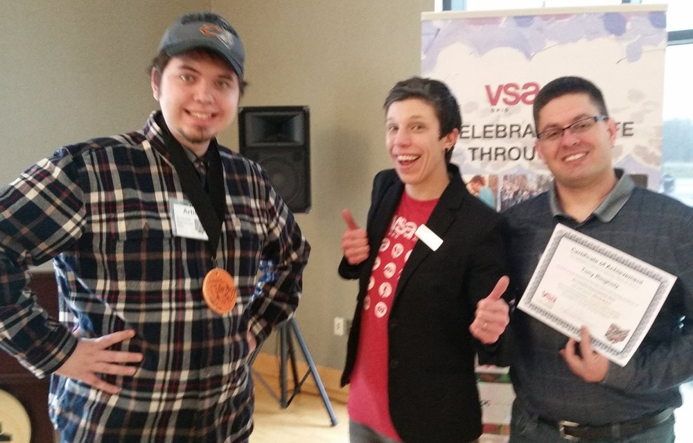 Tony and Jesse getting the thumbs up from VSA Executive Directory, Erin Hoppe.