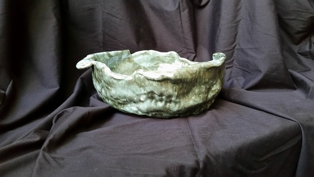 """Pearly Turquoise Bowl"" n/a"