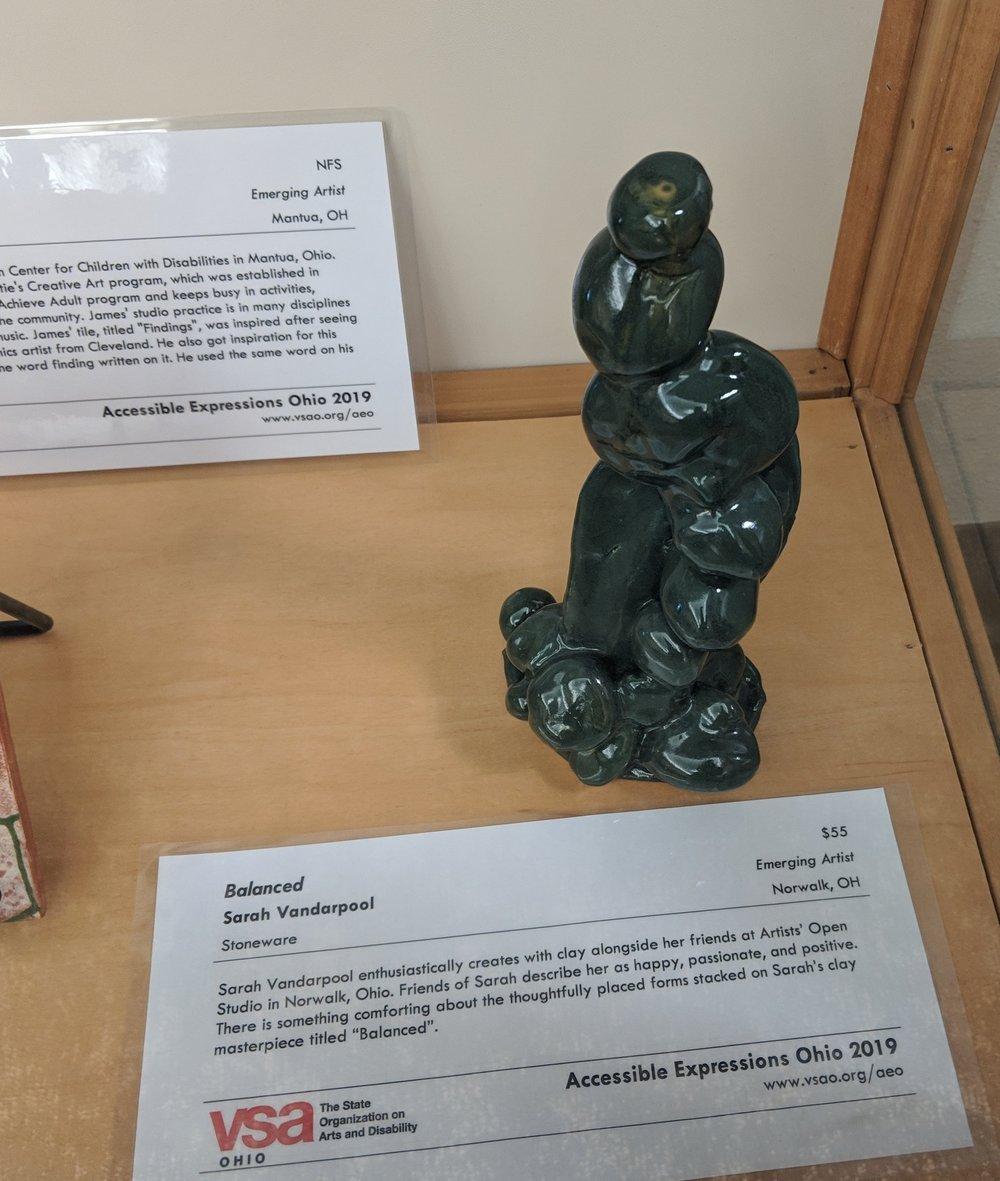 Sarah's artwork on display at VSA!