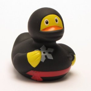 "Meet ""/Backspace/ the Ninja Duck"" - the official DaVinci Coders mascot"