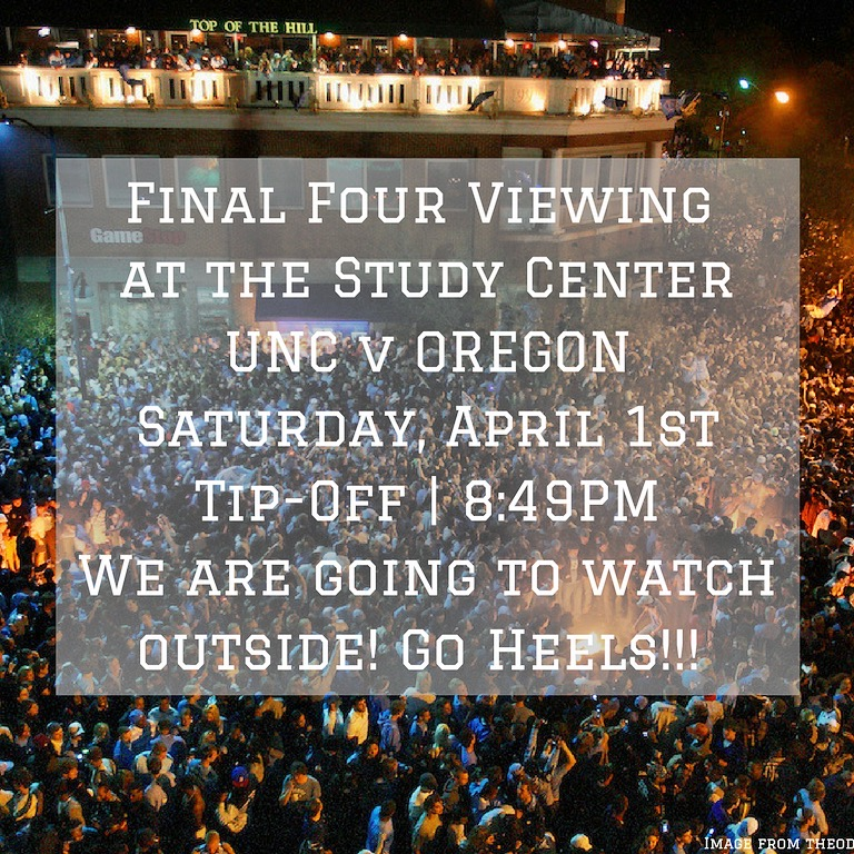 We hosted basketball viewing parties in the spring for both Duke games and several tournament games.