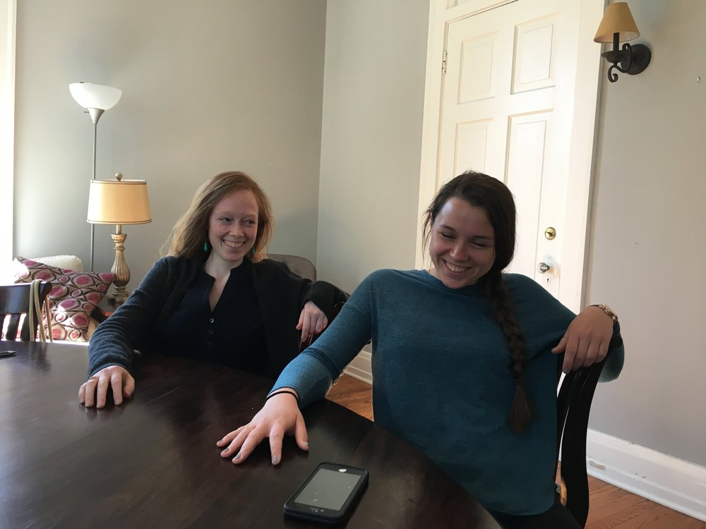 Discipleship relationships are an active part of the Study Center ministry. Staff member Amber discipled Casey ('18) this year and it was both a fruitful and fun relationship. We aren't sure who is mimicking who in this picture!
