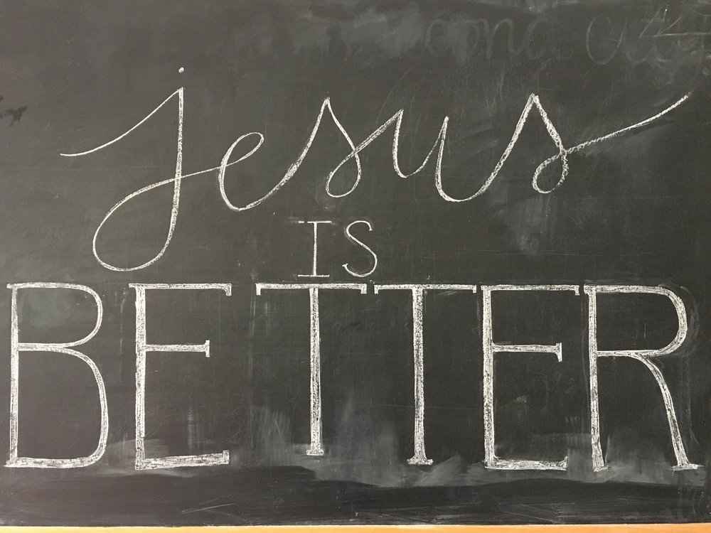 A student drew this on our chalkboard for a CRU at UNC event.
