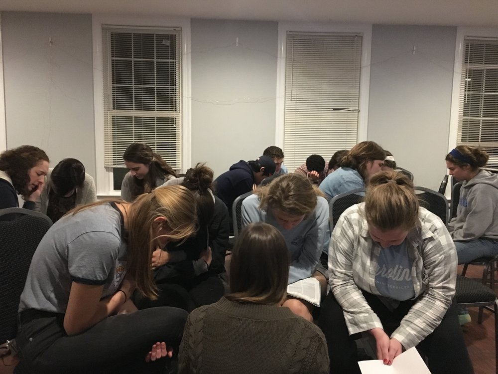 We partnered with students to host a prayer night for refugees.