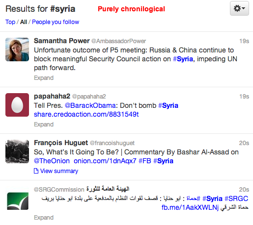 Twitter hashtag #syria search #2