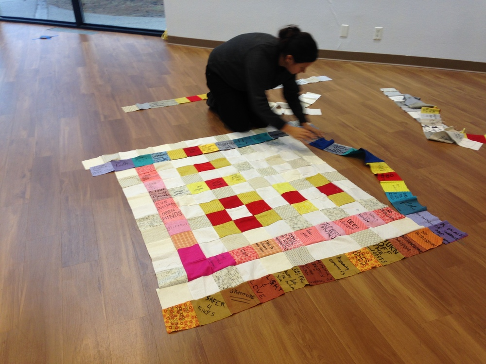 Maggie Thompson and Quilt #12.