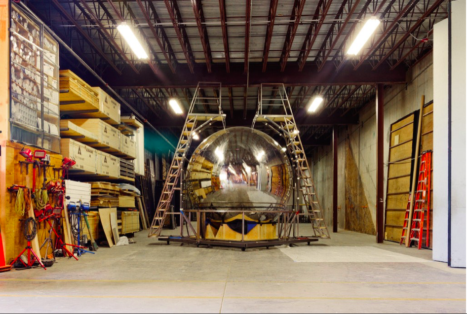 The test bomb in the Santa Fe production will not be an exact replica of the original, but a reflective sphere, representative of all nuclear weapons.CreditChristopher Thompson for The New York Times